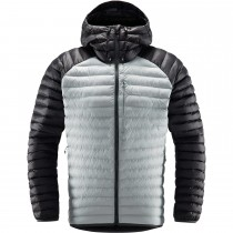 Haglofs Essens Mimic Hood Insulated Jacket - Men's - Stone Grey