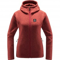 Haglofs Swook Hooded Fleece - Women's - Brick Red