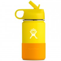 HYDRO FLASK 12oz Wide Mouth Kids Bottle - Lemon