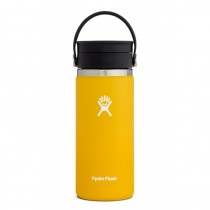 HYDRO FLASK - 16oz Wide Mouth Flask - Sunflower - PICTURE FOR COLOR REFERENCE - COMES WITH A FLIP LID INSTEAD OF A FLEX LOOP