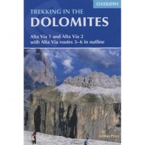 Trekking in the Dolomites: Alta Via 1 and Alta Via 2 with Alta Via routes 3-6 in outline by Cicerone