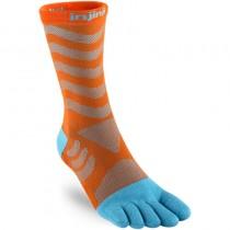 Injinji Ultra Run Crew Toe Sock - Dorado