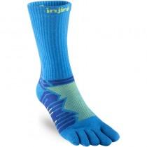 Injinji Ultra Run Crew Toe Sock - Lime