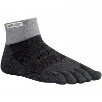 Injinji Trail Mid Weight Mini Crew Toe Socks - Granite