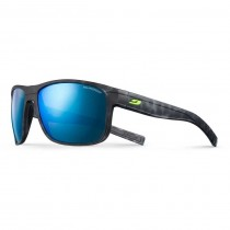 Julbo Renegade Sunglasses - Polarised 3 CF - Smoke ML Blue Lens - Black Tortoise / Black