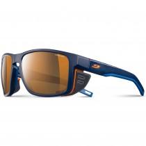 Shield - Blue / Blue / Orange - Reactiv Cameleon - Brown Lens