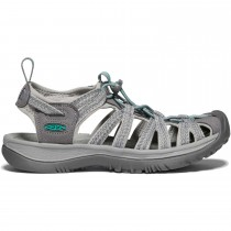 Keen Whisper Sandals - Women's - Medium Grey/Peacock