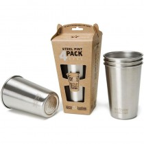 473ml (US Pint) Steel Cup - 4 pack