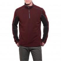 Kuhl Revel 1/4 Zip Fleece - Brick/Charcoal