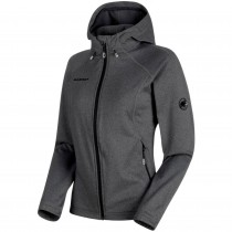 Mammut Runbold ML Women's Hooded Fleece Jacket - Black Melange