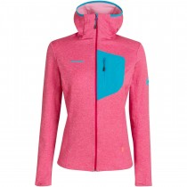 Mammut Aconcagua Light ML Hooded Fleece Jacket - Women's - Sundown/Ocean