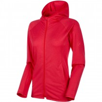 Mammut Nair ML Hooded Fleece Jacket - Women's - Ruby Melange