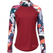 Midweight Meghan Hood Baselayer - Women's - Claret/Multi Pop Camo