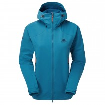 Mountain Equipment Frontier Hooded Jacket - Women's Softshell - Alto Blue