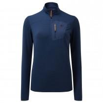 Mountain Equipment Lumiko Zip Tee - Women's Fleece - Medieval Blue
