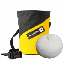 Metolius Competition Stripe Chalk Bag plus free Chalk Ball - Yellow