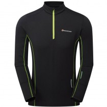 Montane Dragon Pull-On Base/Mid-Layer - Men's - Black/Laser Green