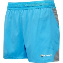 Montane Snap Women's Running Shorts - Cerulean Blue/Stratus Grey