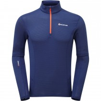Montane Allez Micro Pull-On - Antarctic Blue/Orange