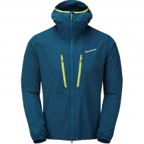 Montane Alpine Edge Jacket - Men's Softshell - Narwhal Blue/Citrus Green