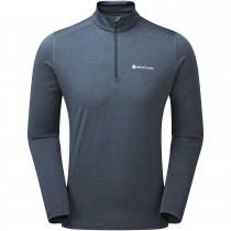 Montane Dart Thermo Zip Neck T-Shirt - Men's - Astro Blue