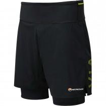 Montane Trail 2SK Men's Running Shorts - Black/Laser Green