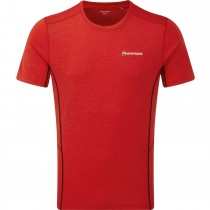 Montane Dart Men's T-shirt - Black - Alpine Red