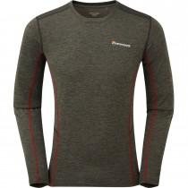 Montane Dart Men's Long Sleeve T-Shirt - Shadow/Alpine Red