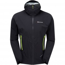 Montane Minimus Stretch Ultra Waterproof Jacket - Black/Laser Green