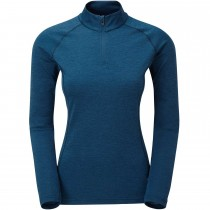 Montane Dart Zip-Neck Baselayer - Women's - Narwhal Blue