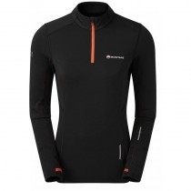 Montane Katla Pull-On Fleece - Women's - Black/Paprika Red