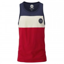 Moon Colour Block Vest - Indigo/Stone/Red