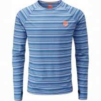 Moon Striped Long Sleeve Baselayer - Midnight
