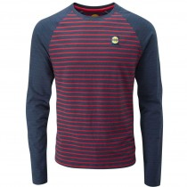 Moon Striped Bamboo Tech T-Shirt - Men's - Indigo/Red