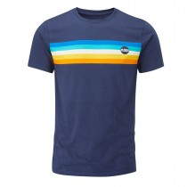 Moon Retro Stripe Tee - Moon Indigo