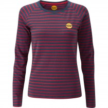 Moon Climbing Striped Bamboo Tech T-Shirt - Women's - Indigo Red