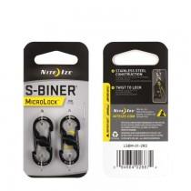 Nite Ize S-Biner Microlock 2-Pack - Black