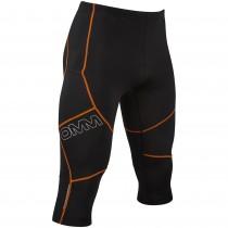 OMM Flash Tight 0.75 Men's Running Tights - Black/Orange