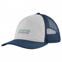 Patagonia Pastel P-6 Label Layback Trucker Hat - White Stone Blue