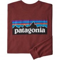 Patagonia P-6 Logo LS Responsibili-Tee - Oxide Red