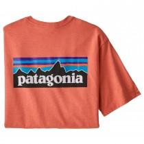 Patagonia P-6 Logo Responsibili-Tee - Men's - Coho Coral