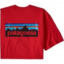 Patagonia P-6 Logo Responsibili-Tee - Fire Red
