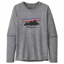 Patagonia Long-Sleeved Capilene Cool Daily Shirt - Free Hand Fitz Roy: Feather Grey