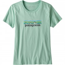 Patagonia Women's Pastel P-6 Logo Organic Crew T-Shirt - Gypsum Green