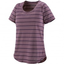Patagonia Capilene Cool Trail Shirt - Women's - Furrow Stripe: Hyssop Purple