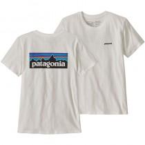Patagonia Women's P-6 Logo Organic Crew T-Shirt - White