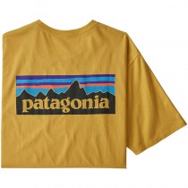Patagonia P-6 Logo Organic Tee - Men's - Mountain Yellow
