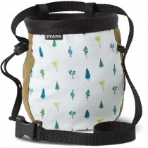 Prana Graphic Chalk Bag With Belt - Woodland Green Trees