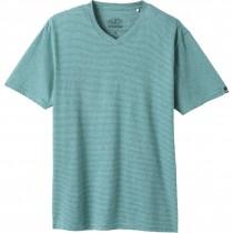 Prana V Neck T Shirt - Mens - Azurite Stripe