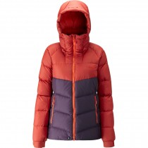 Rab Asylum Women's Down Jacket - Rust/Eggplant